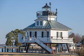 Hooper Strait Light - On display at the Chesapeake Bay Maritime Museum