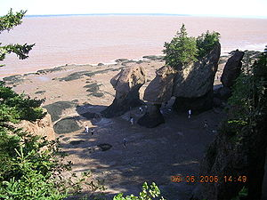 Hopewell Rocks during low tide. New Brunswick.