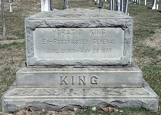 Horatio King - Tomb of Horatio King