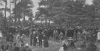 Syndicalism - Meeting during the 1909 general strike in Sweden