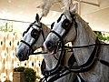 Horse drawn hearse horses City of London Cemetery 5 lighter.jpg