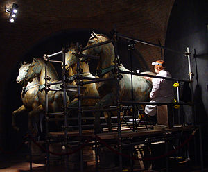Conservation-restoration of cultural heritage - Conservation of the Horses of Saint Mark (Venice)