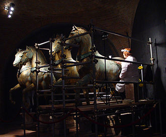 Conservation and restoration of cultural heritage - Conservation of the Horses of Saint Mark (Venice)