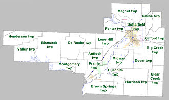 Hot Spring County, Arkansas - Townships in Hot Spring County, Arkansas as of 2010