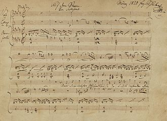 First page of the manuscript to Auf dem Strom, 1828 Houghton MS Mus 99.2 - Schubert, Auf dem Strom.jpg