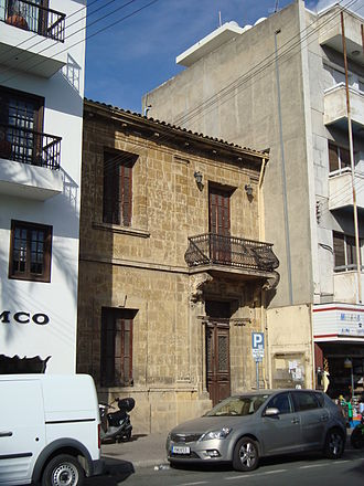 History of Cyprus since 1878 - House in Nicosia CBD built in British colonisation era