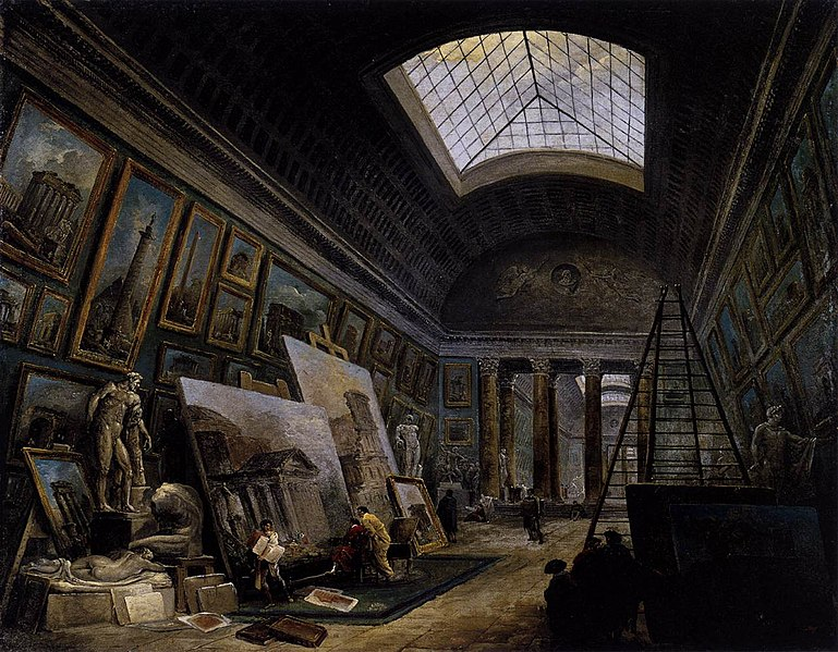 File:Hubert Robert - Imaginary View of the Grande Galerie in the Louvre - WGA19592.jpg