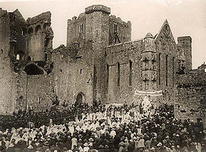 Cashel, County Tipperary - Celebration of Corpus Christi at Rock of Cashel c. 1922