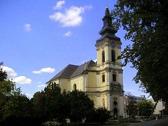 Jászberény - The main church in the center of Jaszberény
