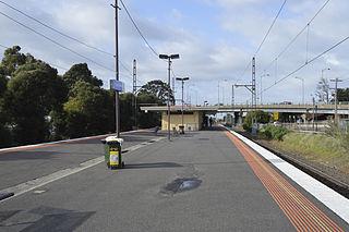 Railway station in Melbourne, Australia