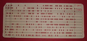Booting - Initial program load punched card for the IBM 1130 (1965)