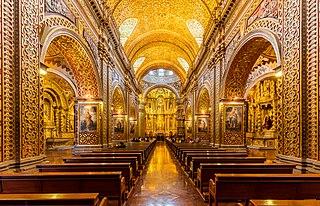 Church of la Compañía de Jesús, Quito Jesuit church in Quito, Ecuador