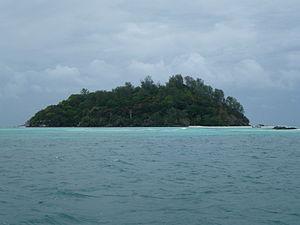 Moyenne Island - Moyenne island from the sea by Jean-Francis Martin