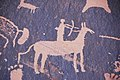 Indian petroglyphs (~100 B.C. to ~1540 A.D.) (Newspaper Rock, southeastern Utah, USA) 14 (22881642515).jpg