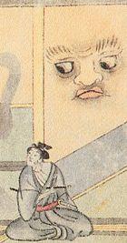 参考:『稲亭物怪録』より、『稲生物怪録』にある壁の怪異