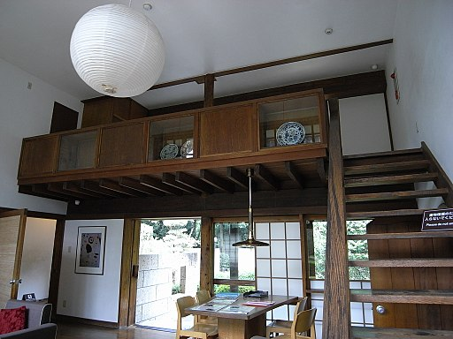 Inside House-Kunio-Maekawa in the Edo-Tokyo Open Air Architectural Museum