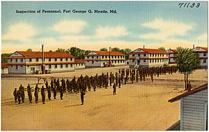 Fort George G. Meade - Image: Inspection of personnel, Fort George G. Meade, Md (71133)