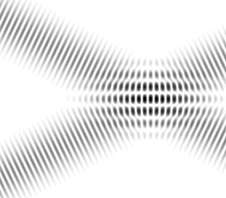 Wave interference - Interference fringes in overlapping plane waves