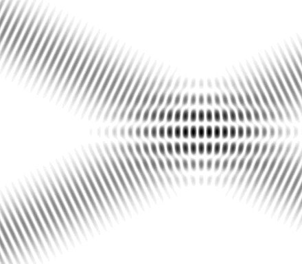 Interference fringes in overlapping plane waves Interferences plane waves.jpg