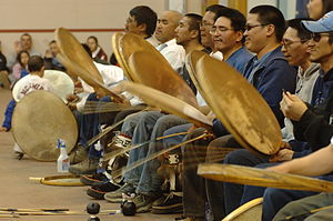 Indigenous music of North America - Inupiaq drummers in Barrow, Alaska