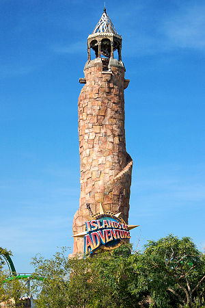 Universal Orlando - The Pharos Lighthouse marks the entrance to Islands of Adventure