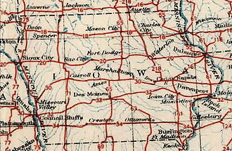 Iowa Primary Highway System - Image: Iowa 1926us