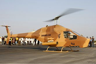 Aerospace Force of the Islamic Revolutionary Guard Corps - A Shahed 285 helicopter.