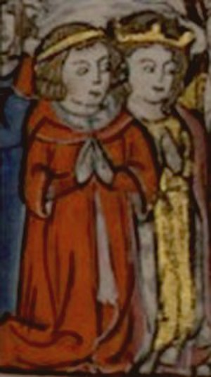 Conrad of Montferrat - 13th-century depiction of Conrad's marriage to Isabella