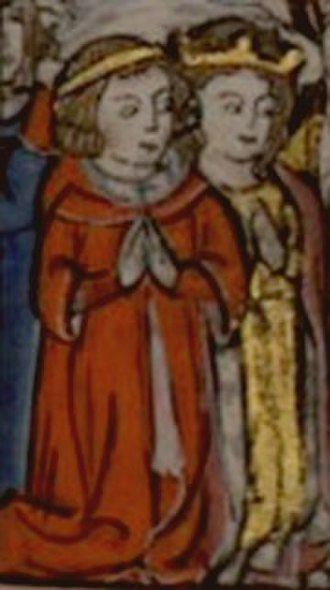Isabella I of Jerusalem - Marriage of Isabella I (on the right) and Conrad of Montferrat