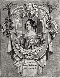 Isabella d'Este (1635–1666) Duchess of Parma after a portrait.jpg