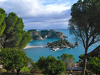 Province of Messina - the Isola Bella at Taormina city