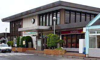 Iwanuma Station - East entrance in June 2010