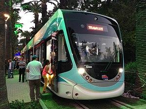 Tram İzmir - A tram vehicle on display at the 2016 İzmir International Fair.