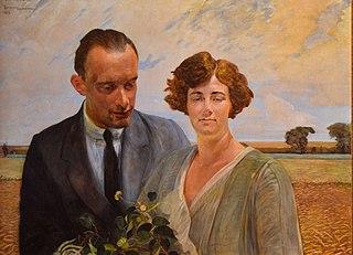 Portrait of Rafał Malczewski with his wife