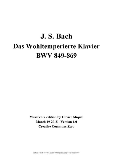 21st-century open source score edition of Book I (182 pages) J.S. Bach - The Well-Tempered Clavier, Book 1 - OpenWTC.pdf