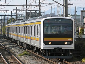 209 series - A Nambu Line 6-car 209-0 series train in January 2008