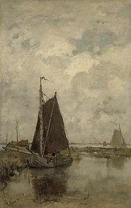 Jacob Maris - Grauwe dag met schepen.jpg