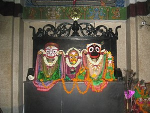 Jagannath Temple, Delhi - Deities inside the Hauz Khas Temple