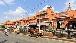 Zentrale Marktstraße von Jaipur