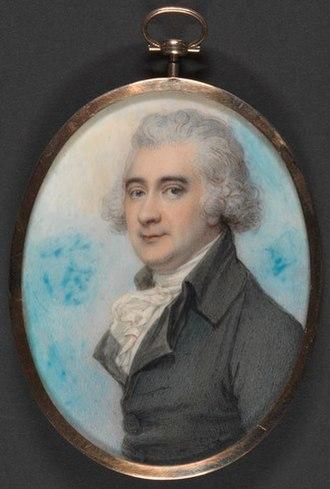James Hope-Johnstone, 3rd Earl of Hopetoun - James Hope (1741-1816) Watercolor by Richard Cosway