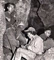 Jan and Herb Conn, Dave Schnute in Jawel Cave - 1959.jpg