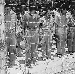 Thirty-First Army (Japan) - Image: Japanese Prisoners of War at Guam 15 August 1945