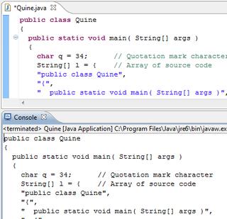 Quine (computing) A self-replicating program