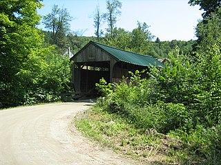 Jaynes Covered Bridge building in Vermont, United States