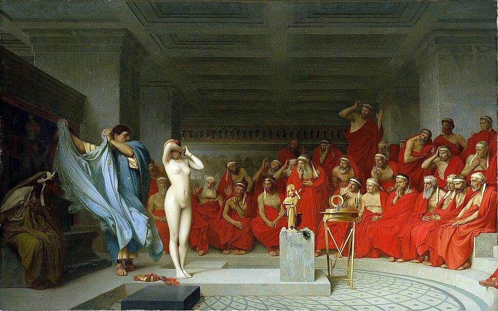 Jean-Léon Gérôme, Phryne revealed before the Areopagus (1861) - 01