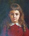 Jean Benner-Petite fille en robe rouge-Musée sundgauvien.jpg