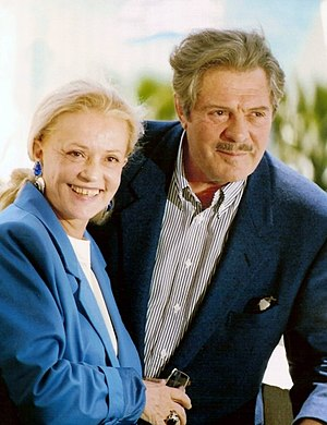 Jeanne Moreau - Jeanne Moreau and Marcello Mastroianni in 1991