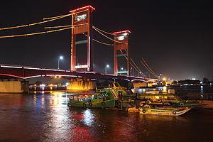 yaitu sebuah jembatan di Kota Palembang struktur, sejarah dan keistimewaan jembatan ampera