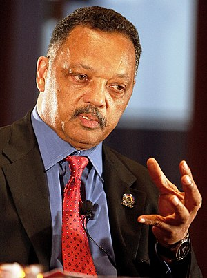 English: Reverend Jesse Jackson Sr. discusses ...