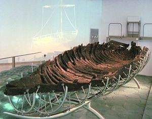 Sea of Galilee Boat - The 'Ancient Galilee Boat' housed in the Yigal Allon Museum in Kibbutz Ginosar
